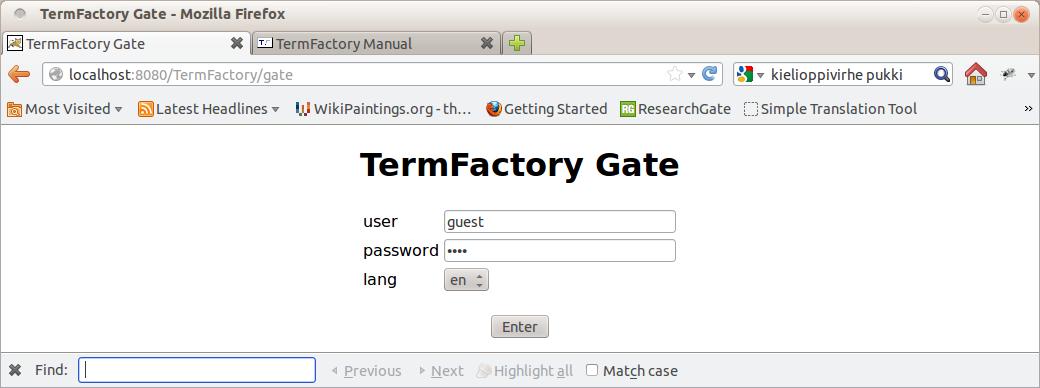 TermFactory Admin Manual > ain xhtml